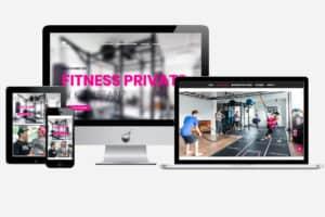 Projekt: Website Fitness Private - Illustration von Media Lab - die Freelancer-Werbeagentur aus Konstanz