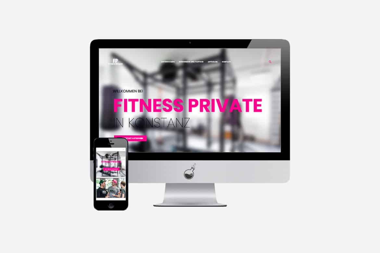 Projekt Fitness Private Website   Media Lab   Werbeagentur